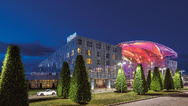 Hilton Munich Airport - Exterior at Night