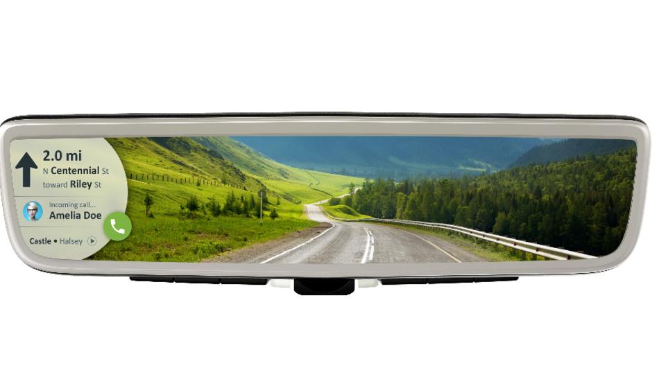 Auch das Navigationssystem lässt sich im digitalen Rückspiegel darstellen.