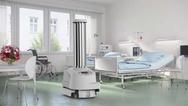 Roboter 'UVD Robot' von Blue Ocean Robotics im Einsatz in einem Krankenhaus