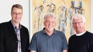 Jens Klocke zusammen mit Peter Tanneberg und ROland Riediger