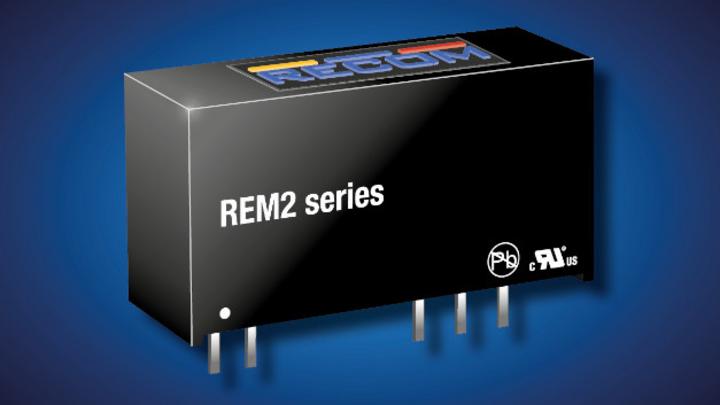 Produktbild: DC/DC-Wandler der Baureihe REM2 von Recom