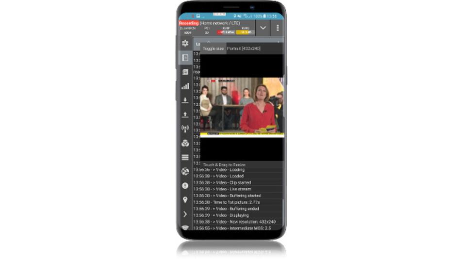 Die QoE-Testsoftware »QualiPoc« ist für Android-Geräte ausgelegt und unterstützt mittlerweile Tests an kommerziell verfügbaren 5G-Smartphones.