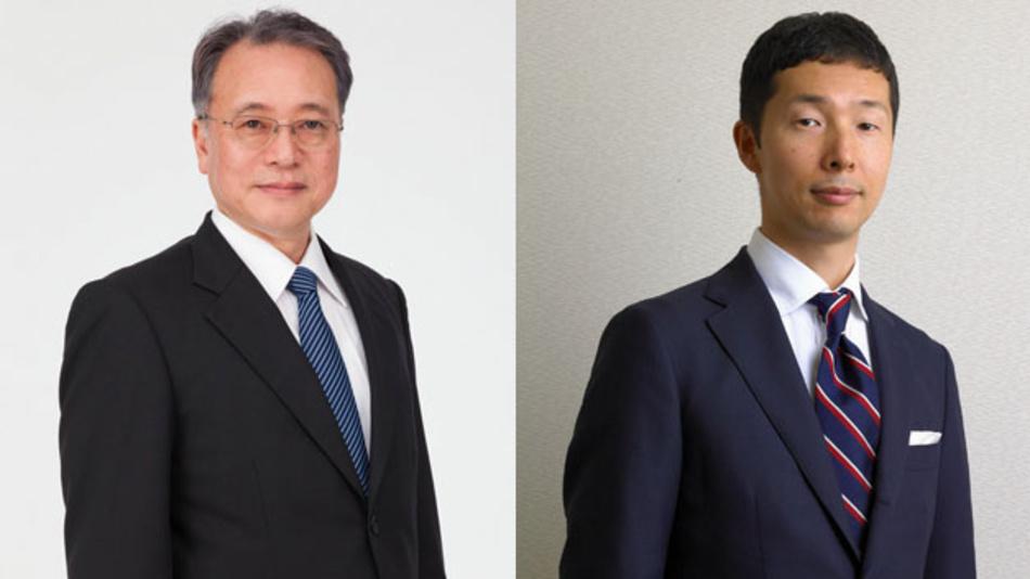 Führungswechsel bei Renesas: Der bisherige CFO, Hidetoshi Shibata (rechts), übernimmt ab 1. Juli 2019 die Unternehmensführung und folgt  Bunsei Kure (links) als CEO.