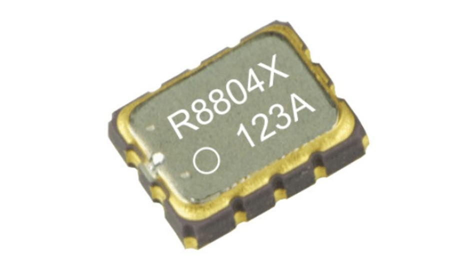 Die Echtzeituhr RX8804 kombiniert einen Quarz, einen digital temperaturkompensierten Quarzoszillator (DTCXO) und Zähler, um Datum und Uhrzeit aufzuzeichnen.