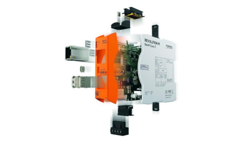 Das RevPi Core 3 der Revolution-Pi-Serie von Kunbus wird in einem Hutschienengehäuse mit USB-, Ethernet- sowie HDMI-Anschluss geliefert.