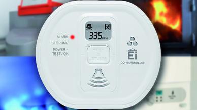 Kohlenmonoxidwarnmelder schützen durch frühzeitige Alarmierung zuverlässig vor dem giftigen Atemgift.
