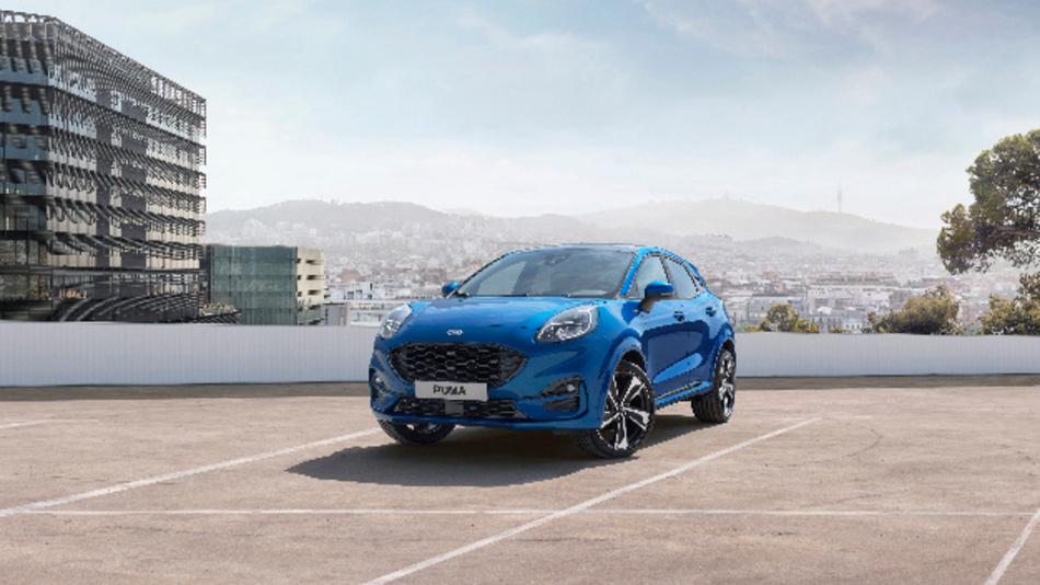 Der neue Ford Puma kommt in Deutschland Anfang 2020 auf den Markt – das Crossover-Fahrzeug im SUV-Stil ist mit Mildhybrid-Antriebstechnik ausgestattet.
