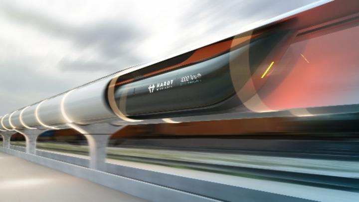 Das Start-up Hardt Hyerloop hat eine Spurwechseltechnik für den europäischen Schnellzug präsentiert.