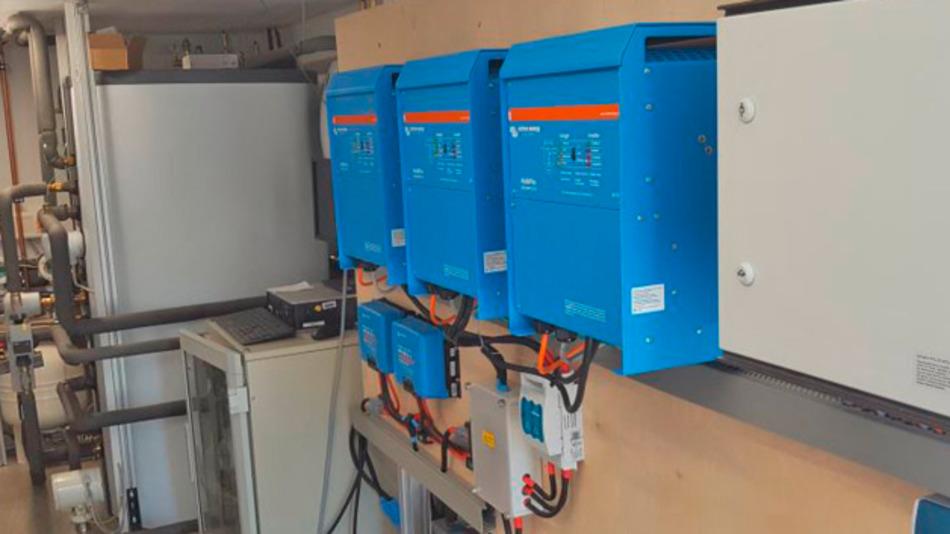 Die Versuchsanlage für latente Energiespeicher bei Stiebel Eltron.