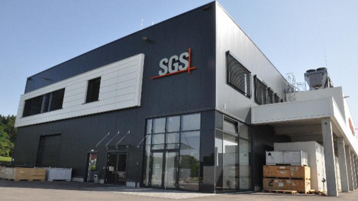 Das neue E-Mobility-Labor der SGS im Gewerbegebiet Gelting-Ost der Stadt Geretsried bei München.