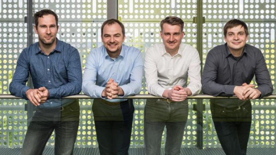 Das »Konekt«-Team (v.l.n.r.): Andreas Krause (Technologieentwicklung), Sebastian Lüngen (Anlagentechnik), Friedrich Hanzsch (kaufmännische Geschäftsleitung), Tobias Tiedje (technische Geschäftsleitung).