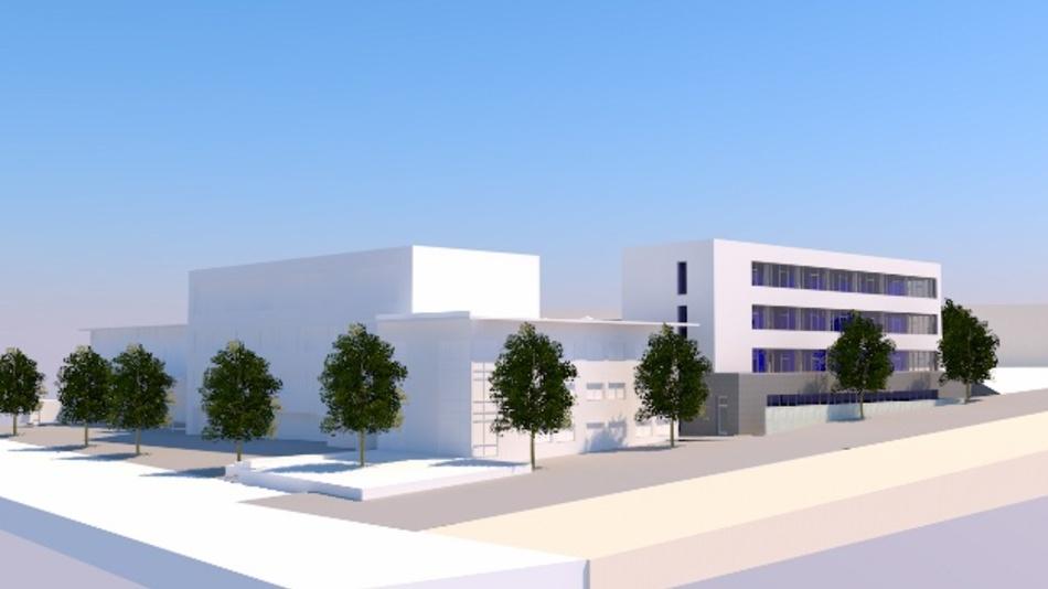 Grafische Darstellung des Neubaus