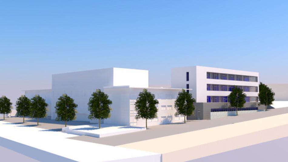 Grafische Darstellung des geplanten Neubaus am Stammsitz von Rehm Thermal Systems in Blaubeuren.
