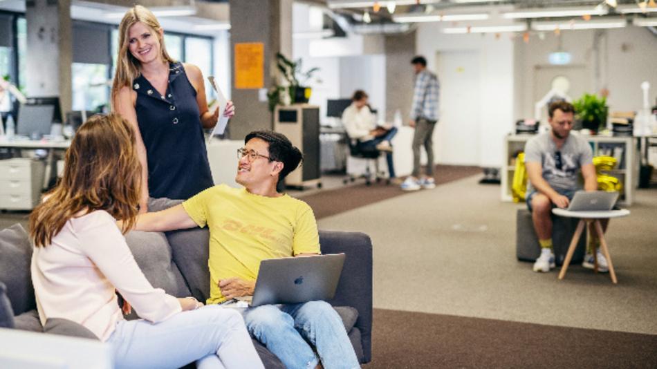 Am »We Campus« arbeiten Expertenteams funktionsübergreifend an einem Ort zusammen.