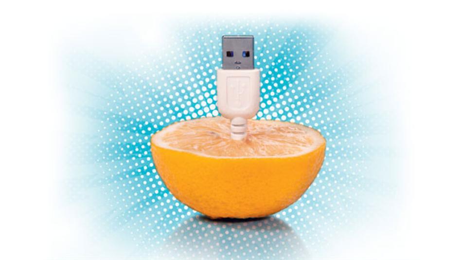 Schnelle Ladezeiten über eine USB-Schnittstelle sind jetzt auch im Fahrzeug möglich mit Einführung des USB-C-Anschlusses.