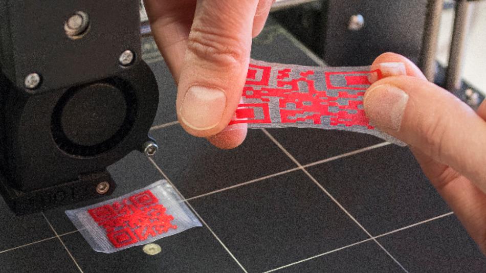 3D-gedruckte Formgedächtnispolymere ermöglichen die Herstellung von QR-Codes, beispielsweise um plagiatsgefährdete Waren zu kennzeichnen.