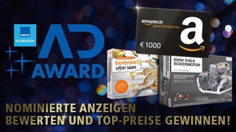 Bewerten Sie die Anzeigen unserer Kunden beim WEKA AD Award 2019