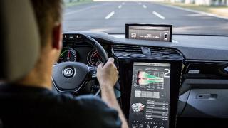 Im zweiten Gang (Display Mittelkonsole) ist der Elektroantrieb bei höheren Geschwindigkeiten deutlich effizienter, als eine feste Übersetzung für den gesamten Drehzahlbereich.