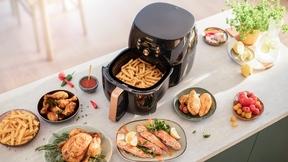 Fettarm essen mit maximalem Geschmack: Smarte Sensoren regulieren Temperatur und Garzeit des Gargutes.