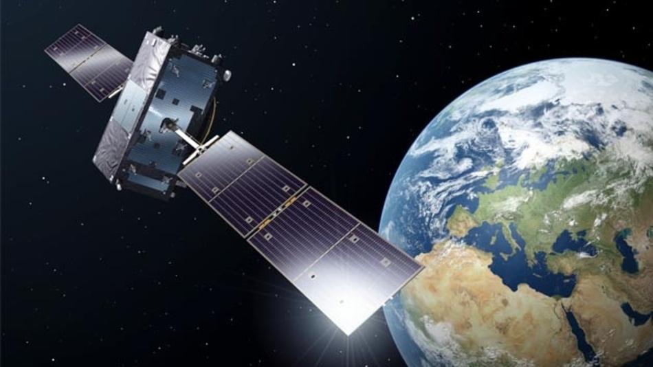 Illustration eines Galileo-Full-Operational-Capacity-Satelliten. Das System ist am Wochendende teilweise ausgefallen.