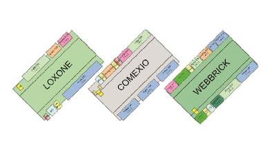 Vergleicht man die Systeme, so wird sichtbar: Comexio kann seine Herkunft aus dem industriellen Schaltschrankbau nicht verbergen: Drehstrom-geeignete 3er-Relais-Kombis. Und: Der bereits 2009 am Markt befindliche Webbrick aus UK stellt, was die Ein- u