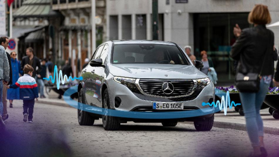 Mercedes-Benz Plug-In Hybride und Elektrofahrzeuge sind mit Soundgeneratoren ausgestattet.