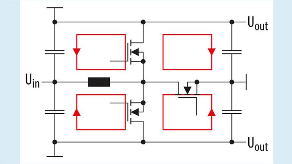 Bild 2. Silent-Switcher-Konzept mit sich aufhebenden magnetischen Feldern.