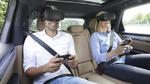 Virtual Reality auf dem Porsche Rücksitz