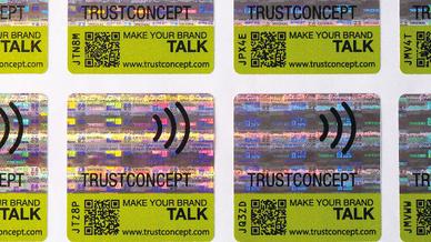 Das neue RFID-/NFC-Etikett »Smart-Label Security« von Smart-Tec