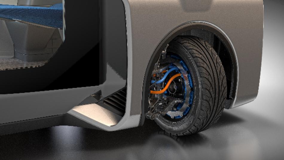 Das Eckmodul »Protean 360+« macht durch die 360-Grad-Lenkung autonome Pods sehr agil.