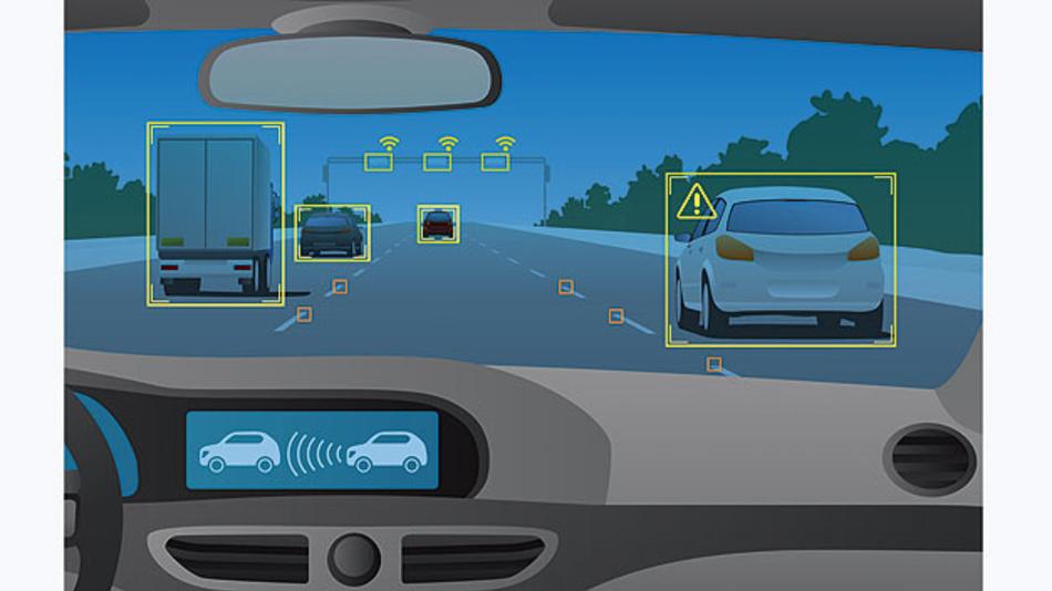 Bild 1. Eine intelligente Szenarienerkennung unterstützt eine schnelle Entwicklung und Validierung autonomer Fahrzeugsysteme.