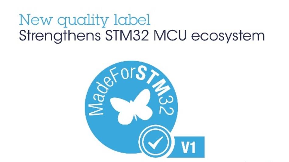 Mit diesem Siegel sollen Qualität und Performance von Produkten mit STM32-Mikrocontrollern bestätigt werden.