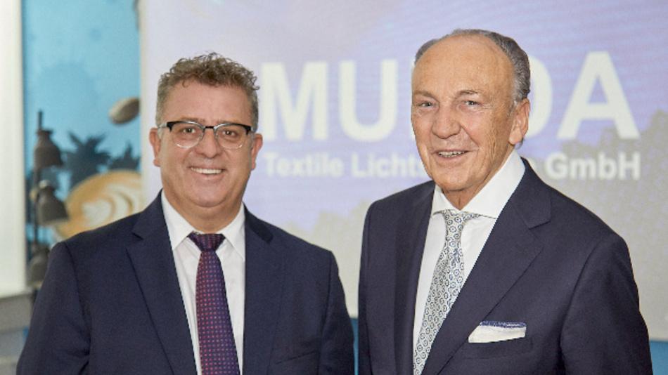»Die bei Munda entstehende Technologie eröffnet uns in vielen Branchen neue Einsatzfelder und weitere Wachstumsmöglichkeiten«, Wido Weyer (CEO Mentor, links) zusammen mit Rolf A. Königs (CEO Aunde).