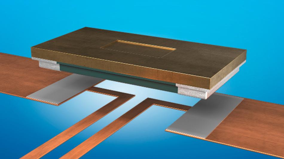 Ein FMx-Shunt im Aufbau: Das Widerstandsmaterial wird als robuste Vollmetallplatte ausgeführt, die mit ihrer Unterseite direkt aufgelötet wird.
