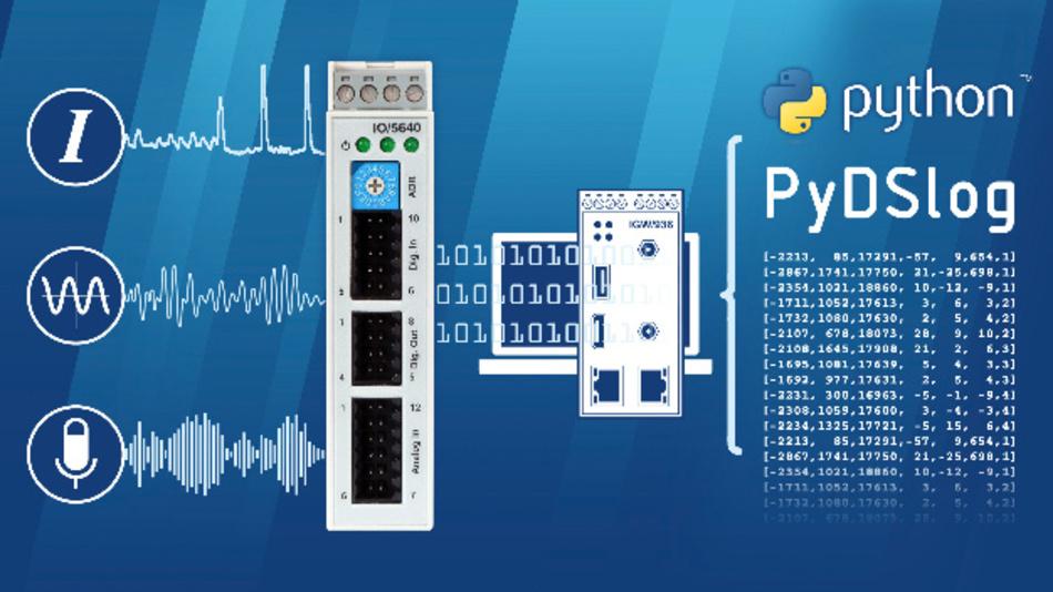 Bei der Datenerfassungs-Baugruppe IO/5640-DS und der Software-Bibliothek PyDSlog von SSV handelt es sich um zwei Bausteine für die Datenaufbereitung in KI-Projekten.