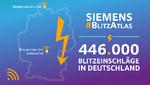 Wo die meisten Blitze in Deutschland einschlagen