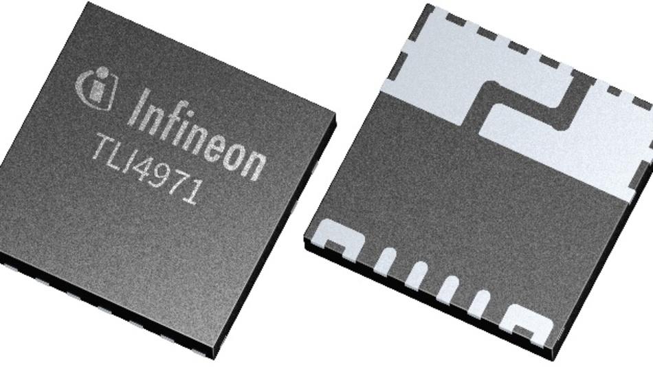 Der TLI4971 findet in einem kompakten PG-TISON-8-Gehäuse mit 8 mm x 8 mm x 1 mm Platz und kann automatisiert mittels SMT bestückt werden