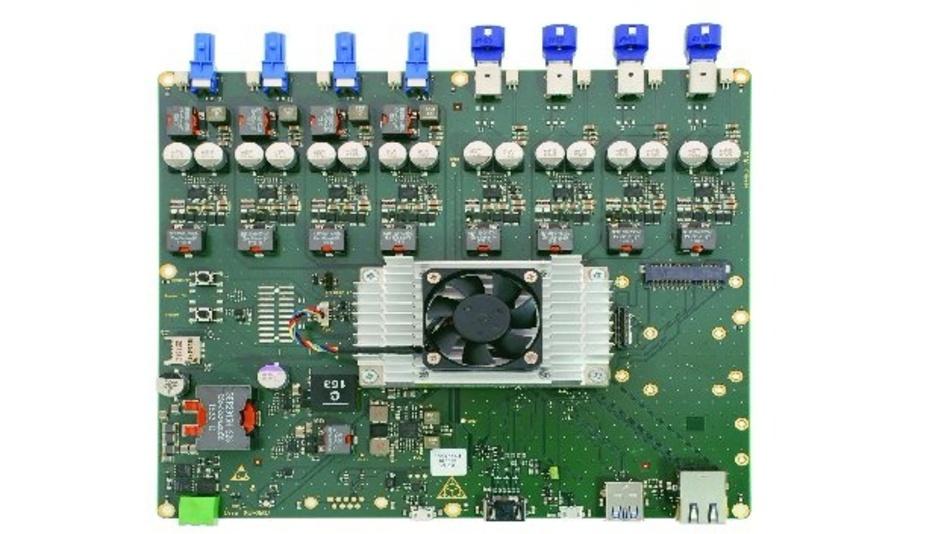 Der ToF-Hub enthält das Nvidia-Jetson-TX2-Modul und hostet Anschlüsse für vier ToF-Sensor-Frontends
