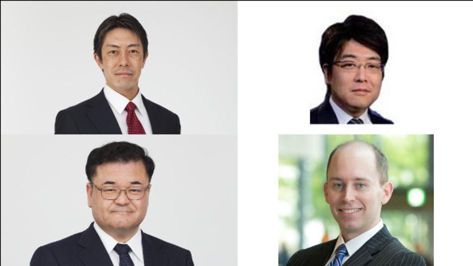 Renesas Electronics baut seine Führung um: Tomomitsu Maoka, Shuhei Shinkai, Shinichi Yoshio und Jason Hall (v.l.o.n.r.u.)
