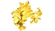 Ein Golplättchen (nachkoloriertes, undatiertes Bild): Britische Forscher haben nach eigenen Angaben die dünnsten Goldplättchen der Welt hergestellt.