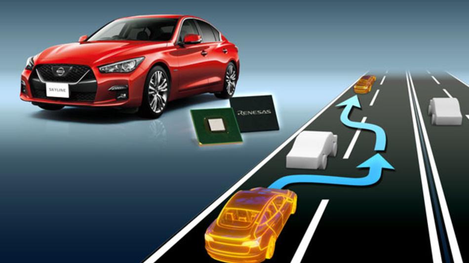 Nissan setzt Chips von Renesas Electronics in seinem neuen Skyline ProPILOT 2.0 ein.