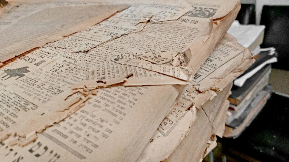 Zerstörte Dokumente der Fundación IWO.