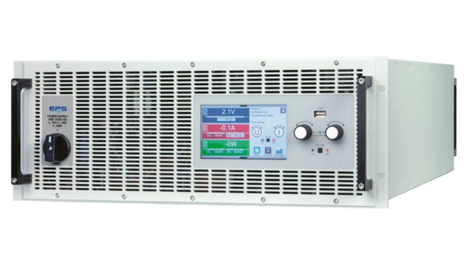 DC-Labornetzgeräte E/PSB10000-4U für den 2-Quadranten-Betrieb zum Testen von E-Antrieben.