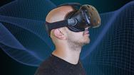 Mann mit VR-Brille (Symbolbild)