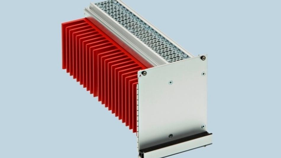 Die Kühlkassette führt  die Wärme über einen  gleichzeitig als Seitenwand  fungierenden Kühlkörper  nach außen.