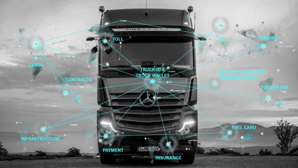 Daimler Trucks gibt einem Lkw-System mit der Truck-ID eine digitale Identität – im Zusammenspiel mit der dazugehörigen Truck Wallet ist die Truck-ID für Bezahlvorgänge und weitere Anwendungen nutzbar.