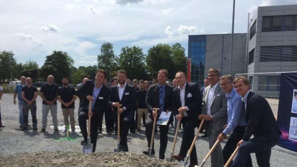 Spatenstich für das neue Battery Test Center von Valmet Automotive am Standort Bad Friedrichshall