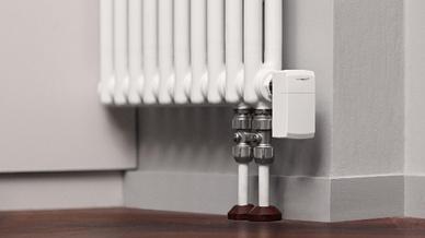Heizkörper-Thermostat im Einsatz