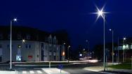 Straßenbeleuchtung bei Nacht