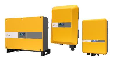 Das optional angebotene Display zeigt unter anderem die Tagesenergie in kWh und die aktuelle Leistung in Watt des Wechselrichters an.